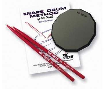 Vic Firth Launch Pad Kit (includes practice pad, SD1JR, method book )