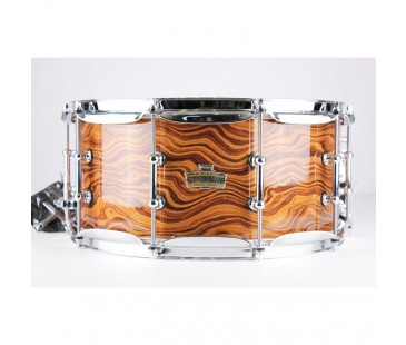 Ludwig Epic Centurian Snare Drum American Walnut over Maple LCEX6514TXWA