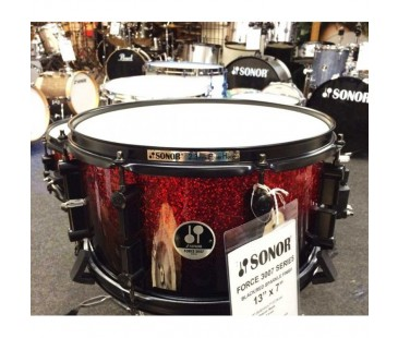 "Sonor F371307SDWB Trampet 13""x7"" Black Red Sparkle"