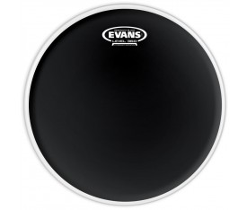 "Evans Deri 10"" Resonant Siyah Tom Alt Clear Tek Kat (7 Mil)"