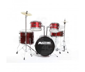Maxtone Junior Davul Set 5 Pcs Metalik Kirmizi