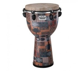 REMO APEX DESIGNER SERIES DJEMBE ORANGE KINTE 12 x 22 inç