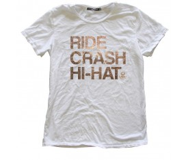 Istanbul Agop IATM-RCHW Ride Crash Hi-Hat T-Shirt Medium Beyaz