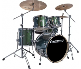 Ludwig Element Evolution LCEE20018 Emerald Green Sparkle Bateri Seti