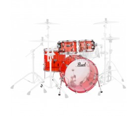 Pearl CRB504P/C731 Crystal Beat Acrylic Ruby Red, Fusion Davul Seti
