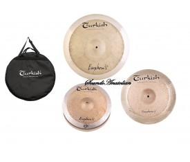 "Turkish Cymbals Euphonic Set (14""Hihat,16""Crash,20""Ride )"