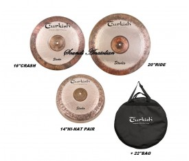 "Turkish Cymbals Studio Set (14""Hihat,16""Crash,20""Ride )"