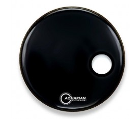 "Aquarian RSM20BK Regulator 20"" Resonant Siyah Ön Kick Derisi"