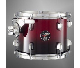 "Dixon Fuse 14"" Floor Tom Gloss Candy Red Fade"