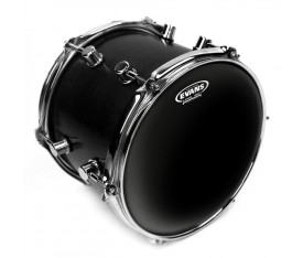 "Evans TT16CHR 16"" Black Chrome Clear Tom Derisi"