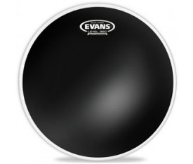 "Evans TT18CHR 18"" Black Chrome Clear Tom Derisi"