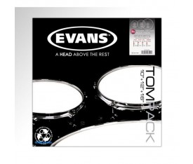 Evans ETP-PC1CLR-R 3'lü Power Center Rock Clear Tom Deri Seti