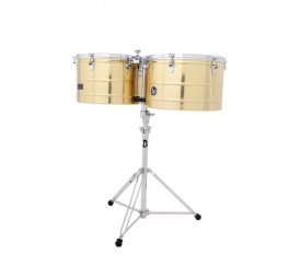LATIN PERCUSSION LP1516-B  - 15'' & 16'' Prestige Brass Thunder Timbal