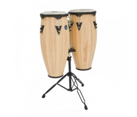 "LATIN PERCUSSION LP646NY-AW - LP® City® 10"" & 11"" Natural Satin Sehpalı Conga Set"