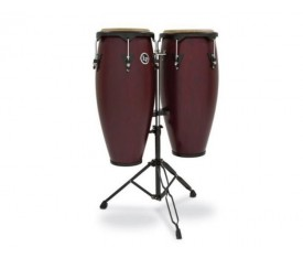 "LATIN PERCUSSION LP646NY-DW - LP® City 10''/11"" Dark Wood Sehpalı Conga Set"