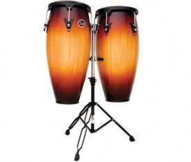 "LATIN PERCUSSION LP646NY-VSB - LP® City 10""/11"" Vintage Sunburst Sehpalı Conga Set"