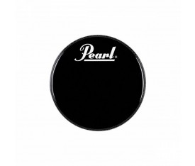 "Pearl EB-22BDPL 22"" Logo Front Bass Drumhead Black"