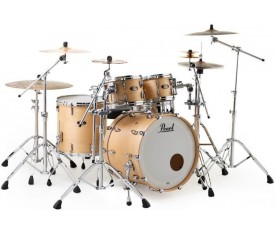 PEARL MMG924XSP/C186 - Masters Maple Gum Hand Rubbed Natural Maple 4 Parça (22B/10T/12T/16F) Akustik Davul Seti