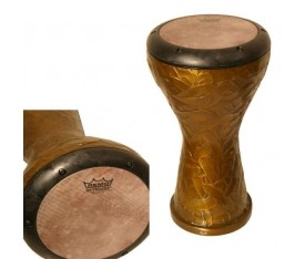 "REMO DK-3008-4M- Darbuka Ergo-Soloist Internal Counterhoop 8"" Deri METALIZED Yellow"