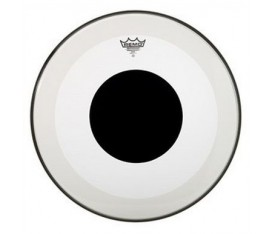 "REMO P3-1324-10- Bass POWERSTROKE 3 Şeffaf 24"" Deri No Stripe Top DOT"