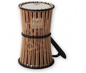 "REMO TD-0816-18- 8"" Fabric African Stripe Talking Drum"