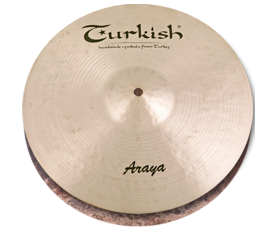 "Turkish Cymbals Araya 14"" Hihat Flat Hole"