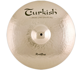 "Turkish Cymbals Rock Beat 16"" Crash Dark"