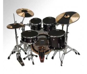 "Evans 10""+12""+14""+14"" +Kick+Hihat+Crash+Ride Zil Fusion Tüm Set Hq Sound Off Davul Susturucu"