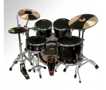 "Evans 12""+13""+14""+16"" +Kick+Hihat+Crash+Ride Zil Fusion Tüm Set Hq Sound Off Davul Susturucu"