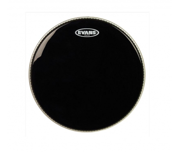 "Evans Deri 12"" Resonant Siyah Tom Alt Clear Tek Kat (7 Mil)"