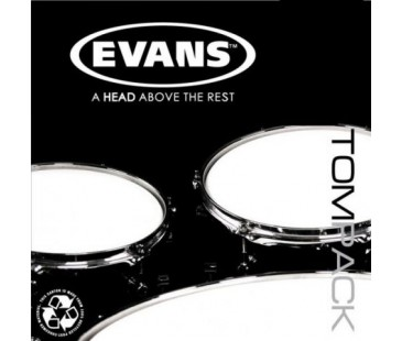 "Evans Deri Seti 10""+12""+14"" Power Center Tom Clear Fusion Kit Dotlu Tek Kat (15 Mil)"