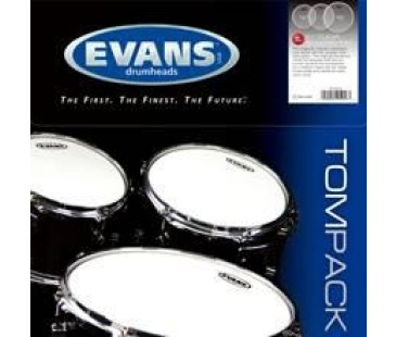 "Evans Deri Seti 10""+12""+16"" G1 Tom Clear Rock Kit Tek Kat (10 Mil)"