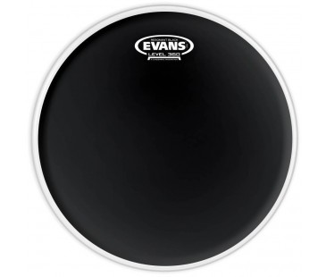 "Evans Deri 18"" Resonant Siyah Tom Alt Clear Tek Kat (7 Mil)"