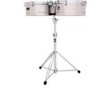 Latin Percussion LP1415S 14-15 Stainless Timbal