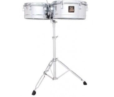 Latin Percussion LPA256 13-14 Shells-Chrome Timbal