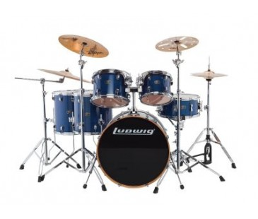 Ludwıg Evolution Maple Lcem622Xbl Trans Blue Shell Set Bateri (10-12-14-14-16-22)