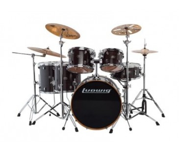 Ludwıg Evolution Maple Lcem622Xtb Trans Black Shell Set Bateri (10-12-14-14-16-22)
