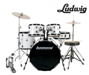 LUDWIG LC1708 BATERİ ACCENT CS COMBO FUSE WHITE (5 PC)