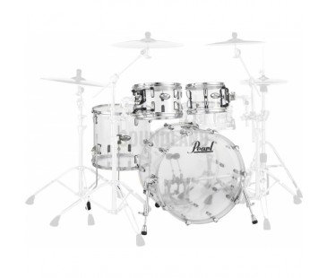 Pearl CRB524P/C730 Crystal Beat Acrylic Ultra Clear, Rock Davul Seti