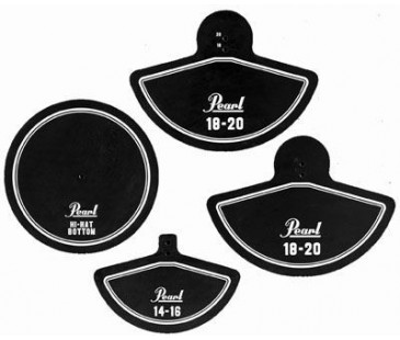 Pearl RP-40C Rubber Cymbal Pad Set