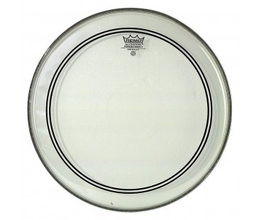 Remo Bass Powerstroke 3 Clear 26 Diameter 2-1/2 White Falam Patch