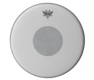 Remo Batter Controlled Sound X Coated 14 Diameter Black Dot On Bottom