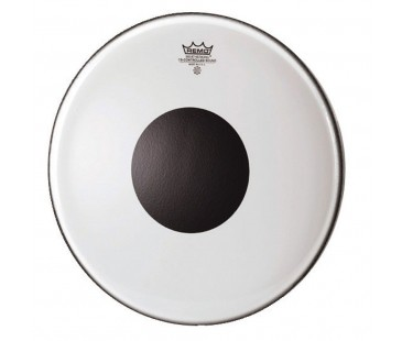 Remo Batter Controlled Sound Clear 14 Diameter Black Dot On Top