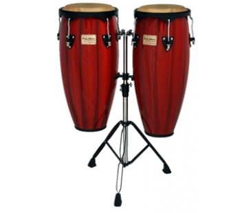 Tycoon Conga TC-91-BHPR-D Artist Series Hand-Painted 10'+11'Red