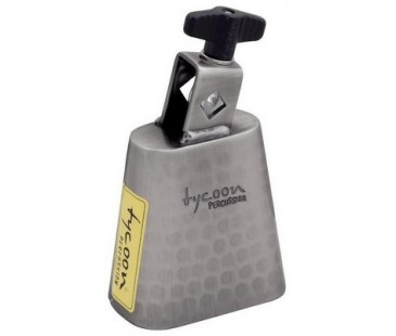 Tycoon 6½'' Hand-Hammered Brushed-Chrome Cowbell