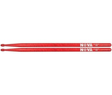 Vic Firth 5A in red with NOVA imprint