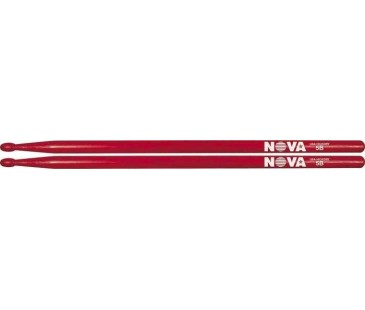 Vic Firth 5B in red with NOVA imprint
