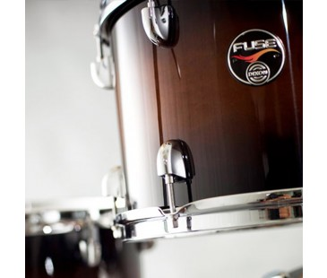 "Dixon Fuse 14"" Floor Tom Gloss Natural Cherry to Black Burst"