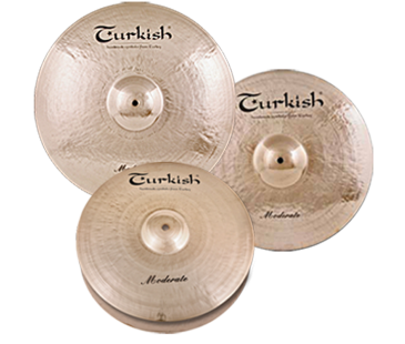 "Turkish Cymbals Moderate Set  ( 14""Hihat, 16""Crash, 18""Crash, 20""Ride + Bag)"