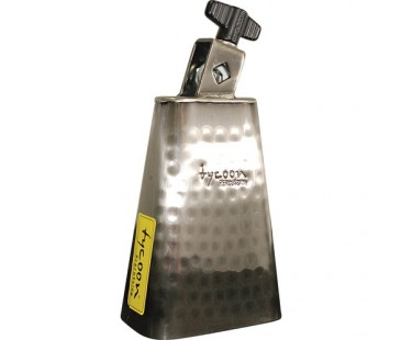 Tycoon 5½'' Hand-Hammered Brushed-Chrome Cowbell